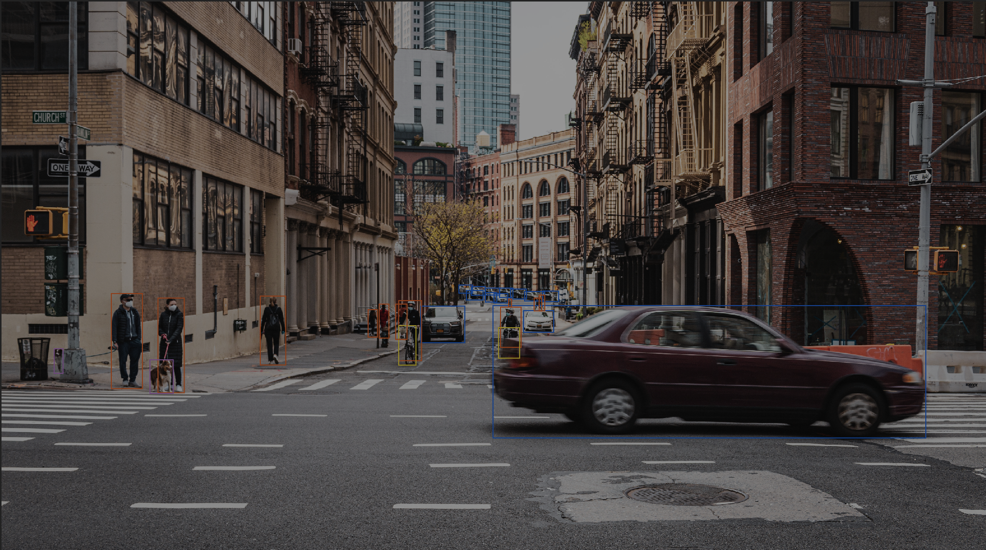 2D bounding boxes -  annotated NYC street